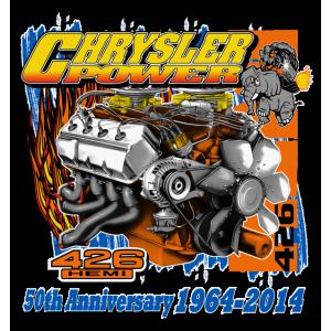 426 Hemi 50th Anniversary Chrysler Power T-Shirts