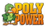 "Poly Power 6"" x 3"" Stickers"