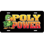 Poly Power License Plates