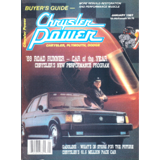 Chrysler Power Jan, 1987